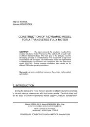construction of a dynamic model for a transverse flux motor