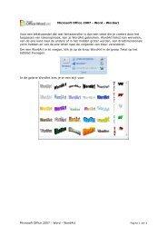Microsoft Office 2007 - Word - ICT KATHOtielt.be