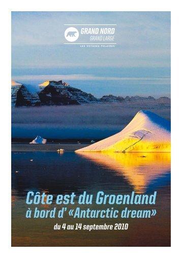 Côte est du Groenland - Le blog de glace - Grand Nord Grand Large
