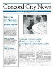 Rincón de Noticias - City of Concord