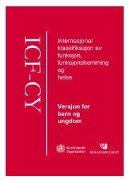 Internasjonal klassifikasjon av funksjon, funksjonshemming ... - KITHs