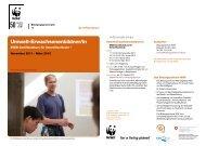 SVEB Zertifikatkurs 2011 Bildungszentrum WWF - naturschutz.ch ...
