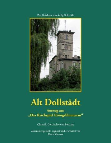 """Alt Dollstädt Auszug aus """"Das Kirchspiel Königsblumenau"""""""