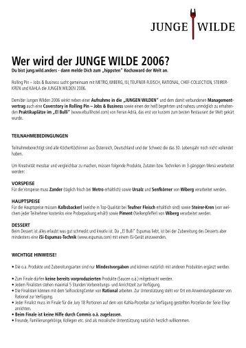 Wer wird der JUNGE WILDE 2006? - ROLLINGPIN