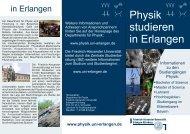 Flyer Physik - Friedrich-Alexander-Universität Erlangen-Nürnberg