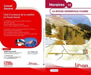Horaires 72 - Conseil Général de Haute-Savoie