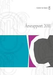 Download årsrapport 2011 som pdf. - Center for døve