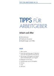 Arbeit und Alter - Schweizerischer Arbeitgeberverband