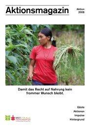 Aktionsmagazin 2008 - Brot für alle