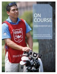 2013 Donors Report - Western Golf Association
