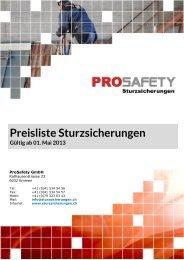 Preisliste Sturzsicherungen Gültig ab 01. Mai 2013 - auf der ...