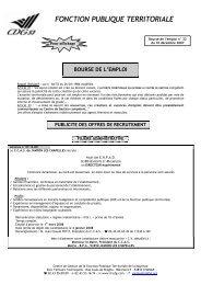 fonction publique territoriale bourse de l'emploi - CDG Mayenne