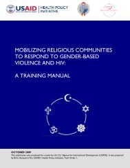 A Training Manual - Health Policy Initiative