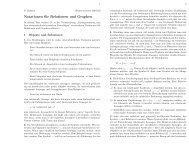 Notationen für Relationen und Graphen