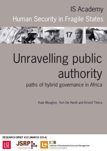 Analysis and Policy brief 7 in cooperation with IS Academy -  Hybrid governance in Africa
