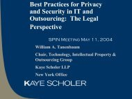 Privacy Analysis, Contract Provisions and Practices - NY SPIN