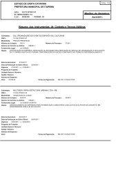 Resumo dos Instrumentos de Contrato e Termos Aditivos - Contas ...