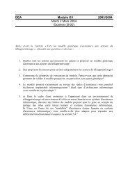 DEA Module O3 2003/2004 Mardi 2 Mars 2004 Examen (3h00)