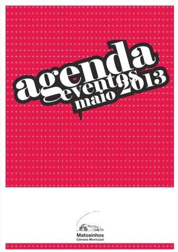 AGENDA EVENTOS MAIO 2013 COMPLETA CAPA - CM Matosinhos