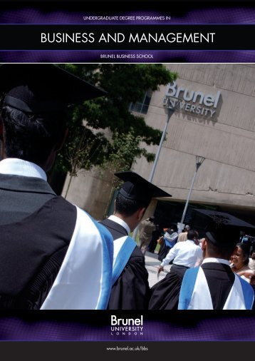 BUSINESS AND MANAGEMENT - Brunel University