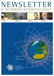 AMERICAN MATHEMATICAL SOCIETY - European Mathematical ...