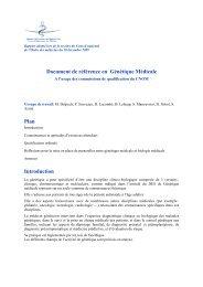 Intégralité du référentiel en génétique médicale - Conseil National ...
