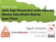 Mimbar Ilmiah - Blog Sivitas STIKOM Surabaya