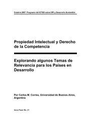 Propiedad Intelectual y Derecho de la Competencia Explorando - ictsd