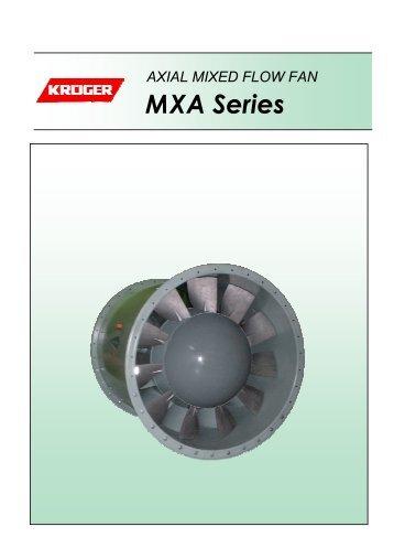 Axial Mixed Flow Fan (Direct Driven) MXA Series - Kruger Ventilation