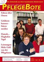 PflegeBote Ausgabe 1 / März/April 2010 (PDF) - Sozialstation ...