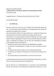 Urheberrechte im Internet aus deutscher und amerikanischer Sicht