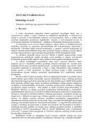 Regio . Kisebbség, politika, társadalom 1998. 9. évf. 3.sz.