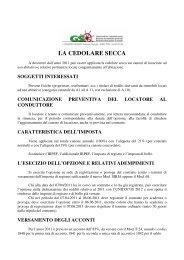 LA CEDOLARE SECCA - Gs.bz.it