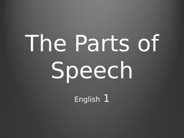 parts-of-speech090613 - Cobb Learning