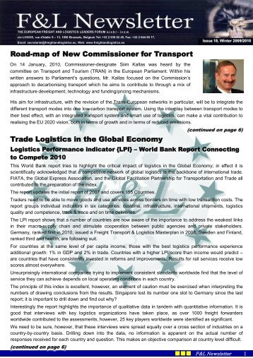 F&L NEWSLETTER Winter 2009-2010.pdf - European Freight Leaders
