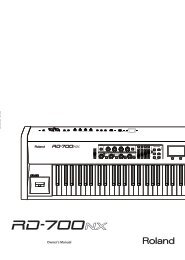 Roland RD-700NX Owners Manual - Musician's Friend