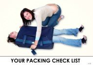 YOUR PACKING CHECK LIST - Gapyear.com
