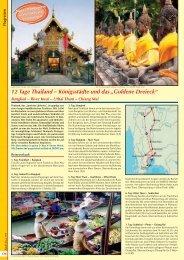 """12 Tage Thailand – Königsstädte und das """"Goldene ... - Kofahl Reisen"""