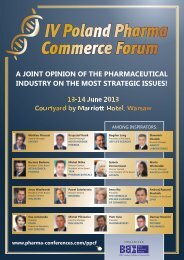 IV Poland Pharma Commerce Forum - Blue Business Media
