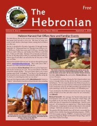 Hebron Harvest Fair Offers New and Familiar Events - Gulemo