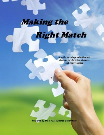 Making the Right Match - Cuyahoga Valley Christian Academy