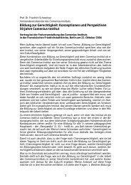 Bildung zur Gerechtigkeit: Konzeptionen und ... - Comenius-Institut