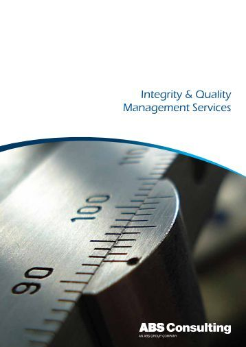 Integrity & Quality Management Services - ABS Consulting