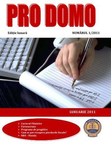 PRO DOMO ianuarie 2011.pdf - C.E.C.C.A.R. – Filiala Brasov