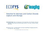 Potential for Biomass and Carbon Dioxide Capture and ... - Bellona