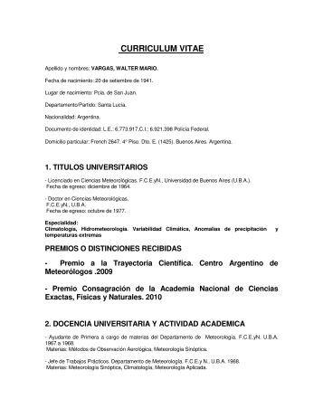 Vargas Walter - Departamento de Ciencias de la Atmosfera y los ...