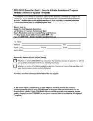 Notice of Appeal Template - Skate Ontario