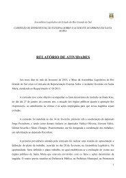 Relatório Final - Assembléia Legislativa