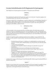 Svenska Fotbollförbundets \(SvFF\) Reglemente för Spelaragenter