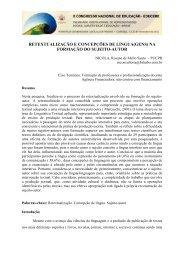 RETEXTUALIZAÇÃO E CONCEPÇÕES DE LÍNGUA(GENS) NA ...